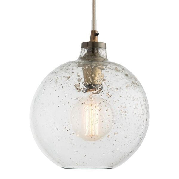 arteriors home monica pendant sand infused glass