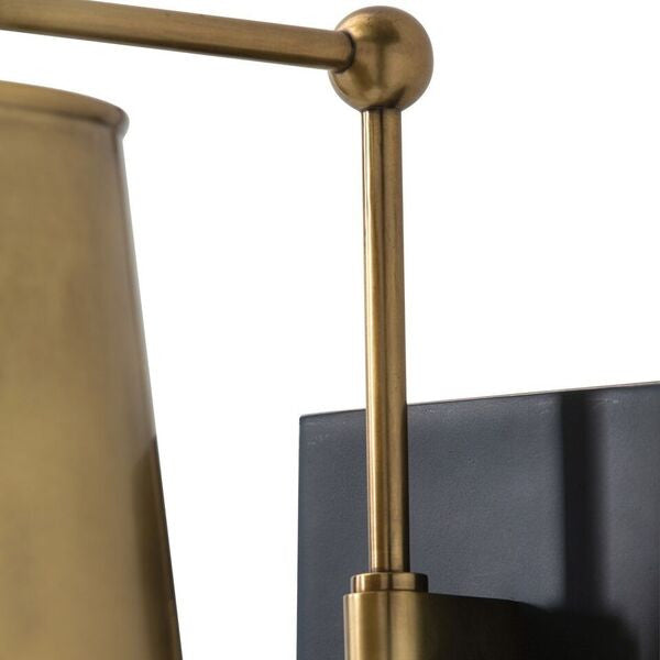 arteriors home watson wall sconce midcentury lighting detail