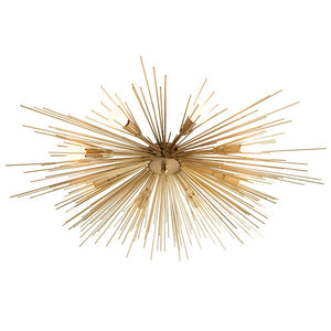 arteriors home roxanne flush mount antique brass close up