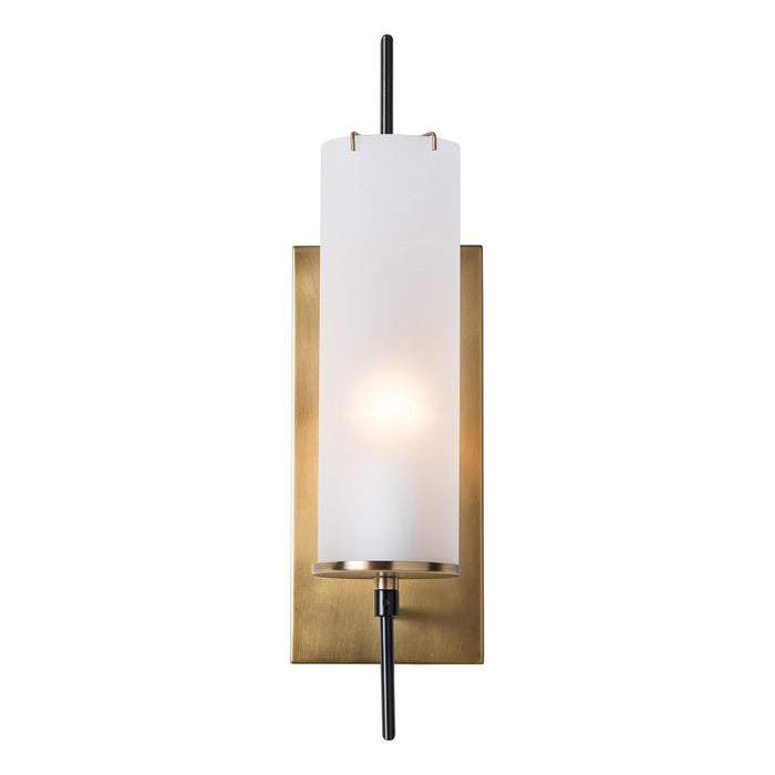 arteriors home stefan wall sconce frosted glass bronze vintage brass
