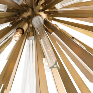 Arteriors Home Waldorf chandelier clear glass rods detail 89029