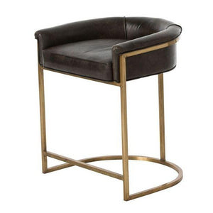 Arteriors Home Calvin Counter Stool Brindle And Brass
