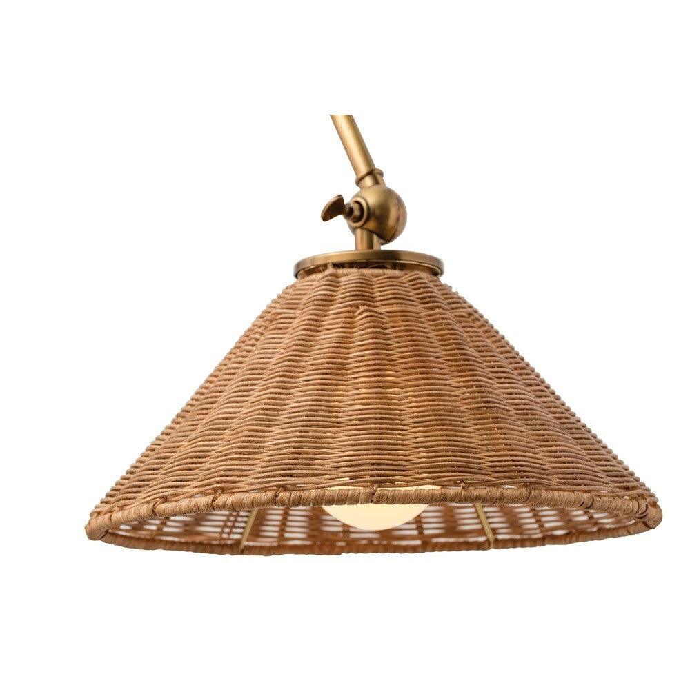 arteriors home parma wall sconce windsor smith zoom in of steel brass natural organic wicker