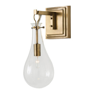 arteriors home sabine wall sconce brass wall mount steel antique brass