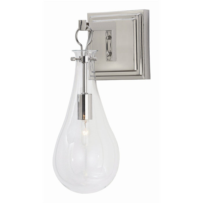 arteriors home sabine wall sconce nickel mount steel polished light