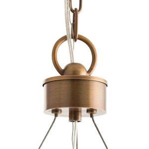 Arteriors home dante chandelier antique brass circle light detail 89702