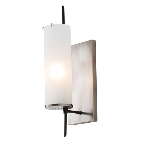 arteriors home stefan wall sconce silver wall accessory side view