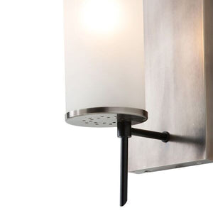 arteriors home stefan wall sconce silver wall accessory bronze detail