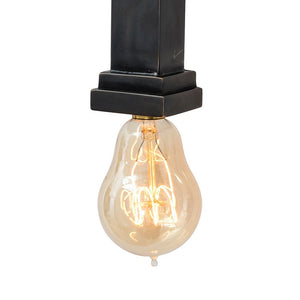 Arteriors Home Hutu Wall Light modern 2 Edison bulb sconce detail DS44006