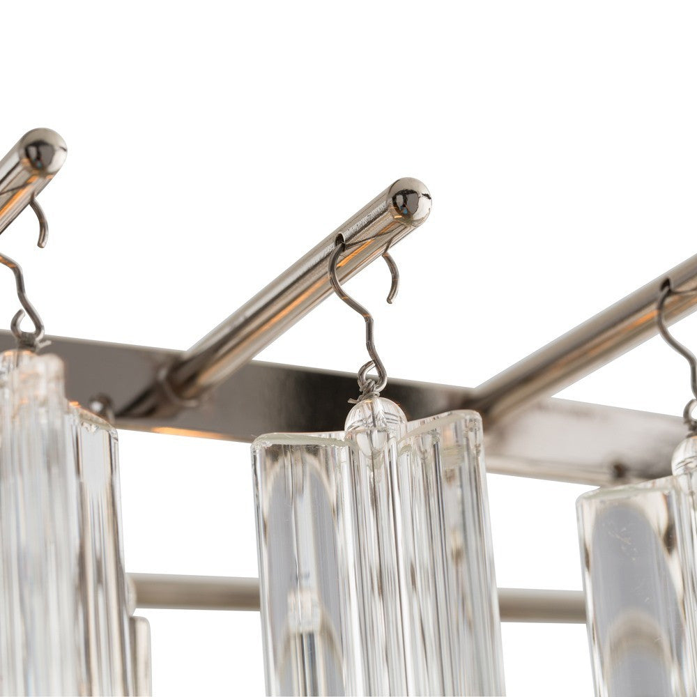 arteriors home nessa chandelier glass steel polished nickel 8 light detail