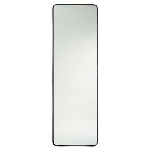 arteriors home truman mirror black finished iron