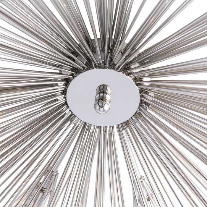 arteriors home roxanne flush mount close up polished nickel 89970