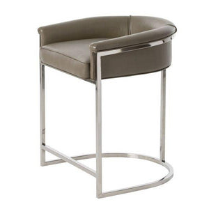 arteriors home calvin counter stool low back arm seating side view