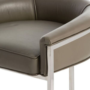 arteriors home calvin counter stool top-grain leather upholstered seat
