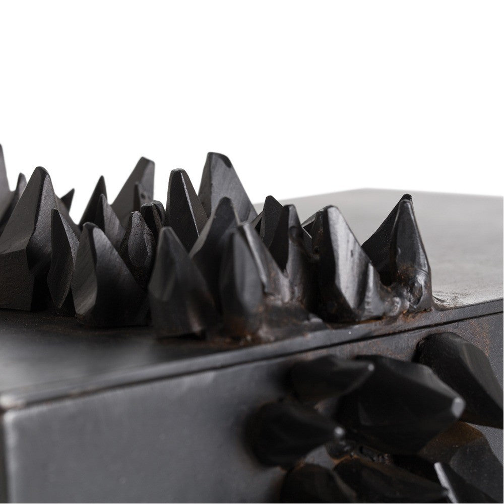Arteriors home jagger rectangular box faceted iron shards 6366