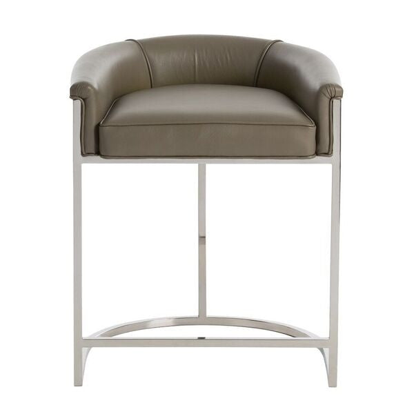 arteriors home calvin counter stool low back arm seating