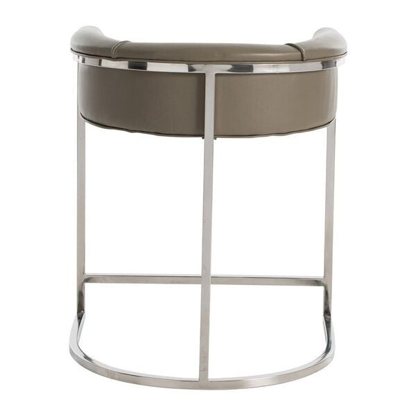 arteriors home calvin counter stool low back arm seating back view