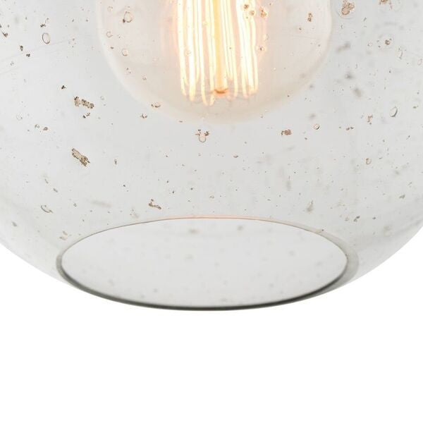 arteriors home monica pendant sand infused glass detail