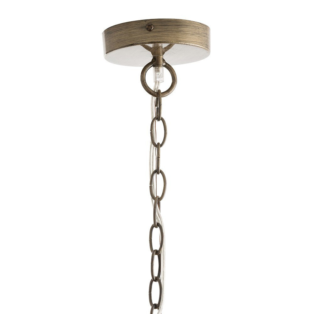Arteriors Home Finch Chandelier iron canopy hanging light detail