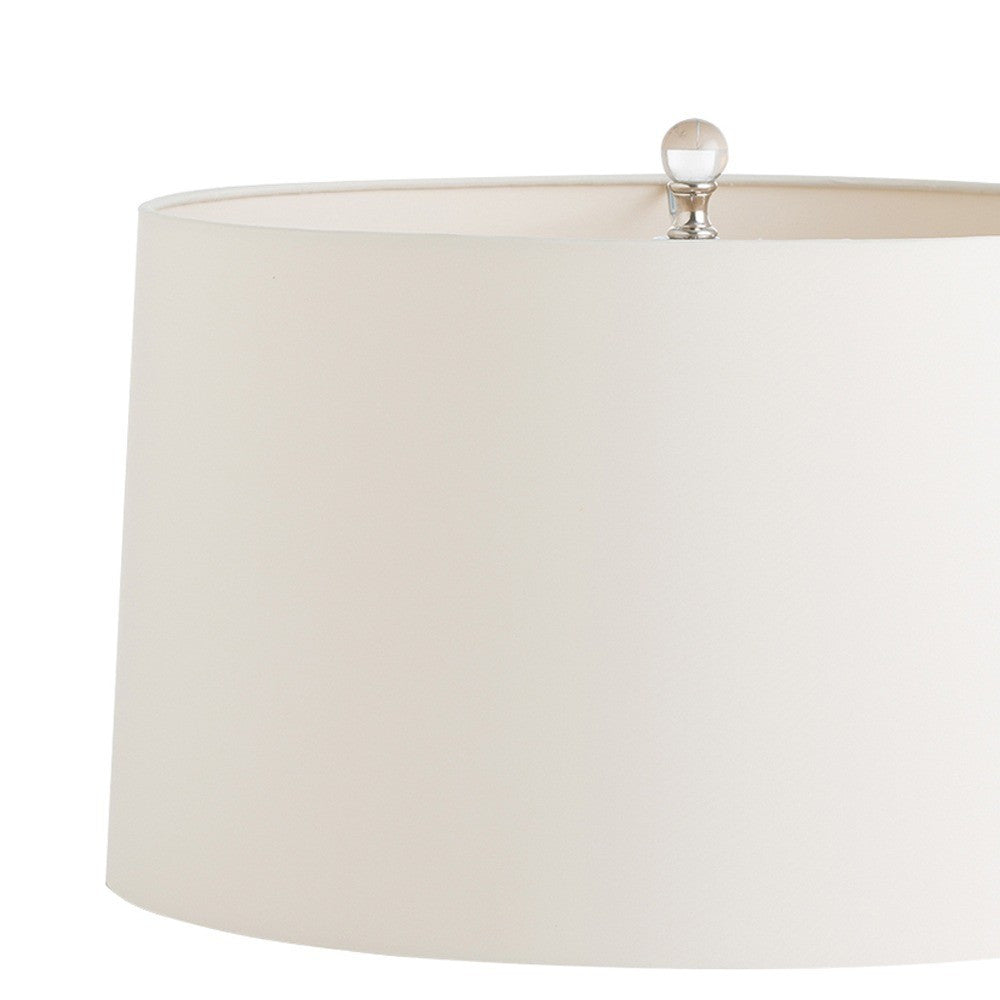 arteriors home joss table lamp lined putty microfiber shade