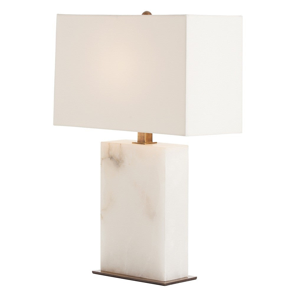 Arteriors Carson Lamp White Marble snow Angle AH- 42328-798