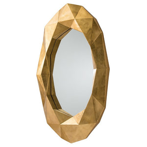 Arteriors Home Fallon Mirror side view oval frame design detail 9115