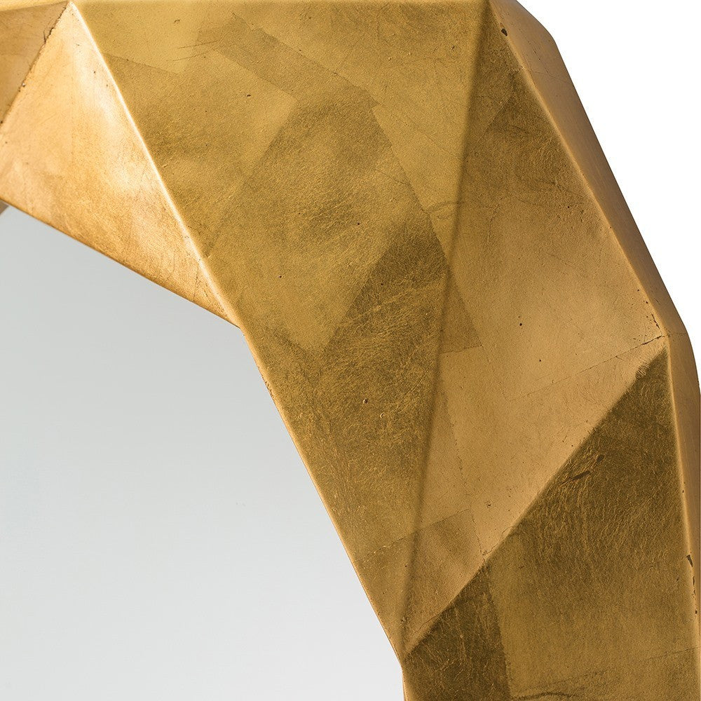 Arteriors Home Fallon Mirror geometric angles mirror edge gold detail 9115