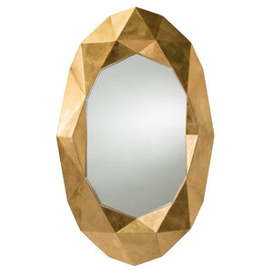 Arteriors Home Fallon Mirror oval geometric gold leaf design 9115