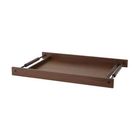 Arteriors Home Tract Tray Satin Walnut
