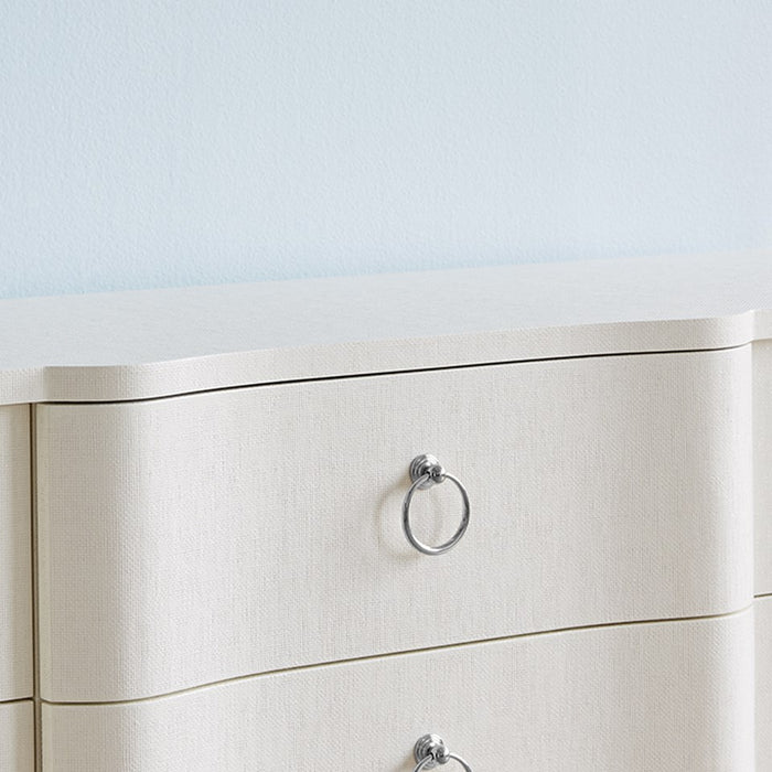 bungalow 5 bardot extra large 9 drawer dresser white BDT-250-59 close up