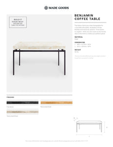 made goods benjamin coffee table tearsheet