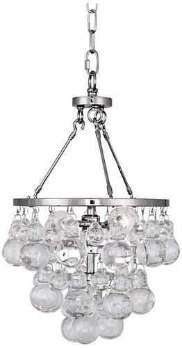 Robert Abbey Bling Small Chandelier Polished Nickel Glass