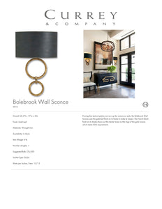 Currey & Company Bolebrook Wall Sconce Tearsheet