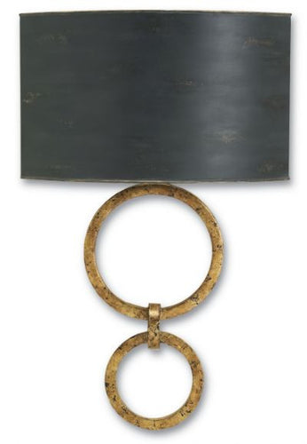 currey and company bolebrook wall sconce gold leaf black