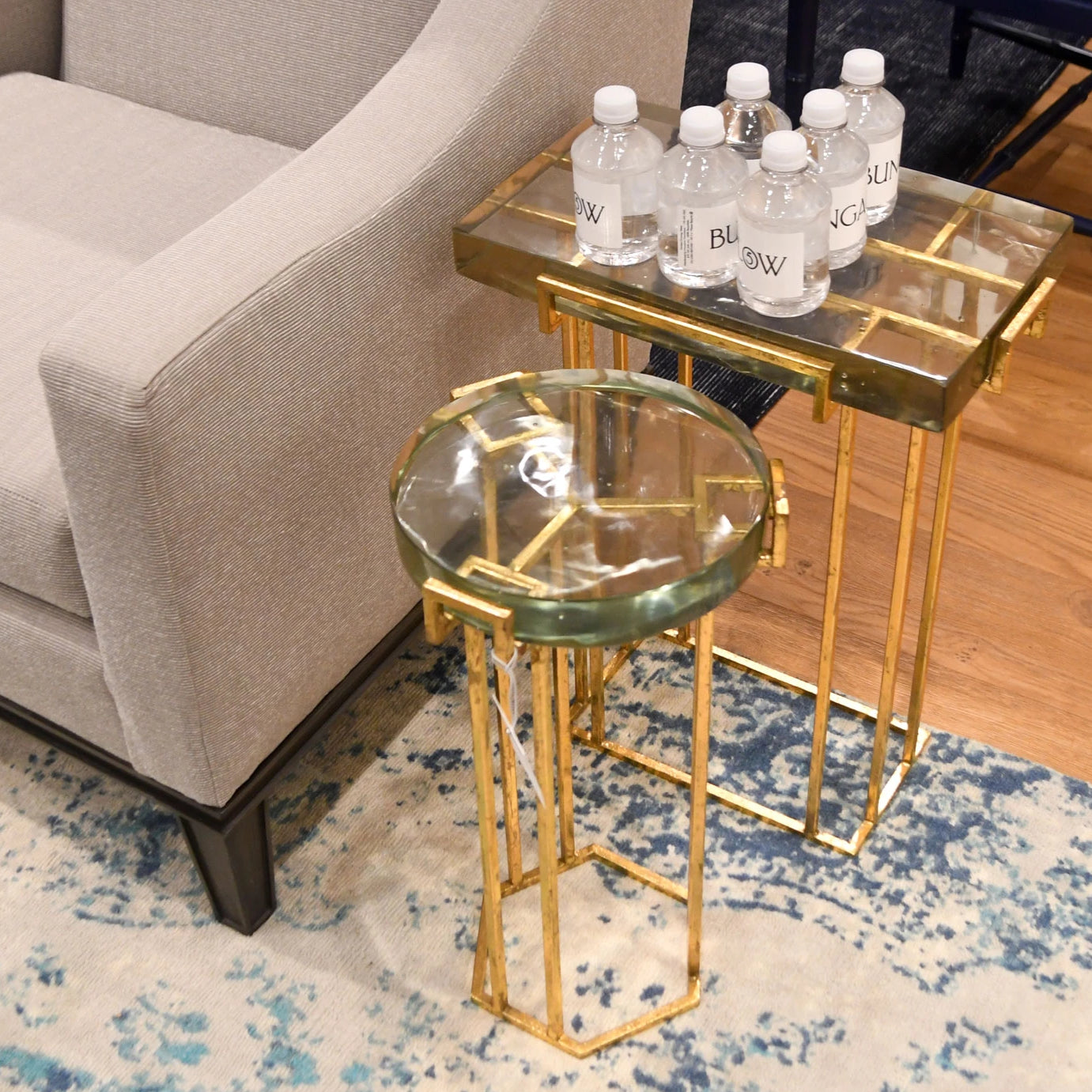 bungalow 5 prism side table gold angle