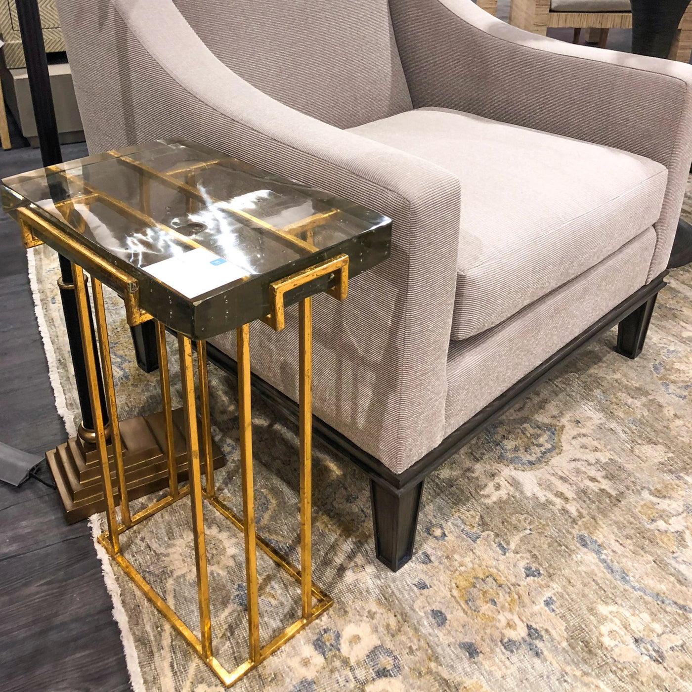 bungalow 5 prism side table gold metal showroom