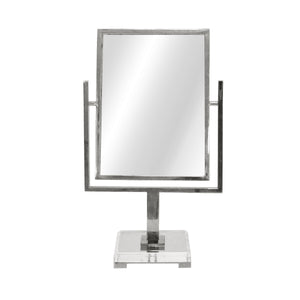 worlds away caitlin countertop mirror nickel