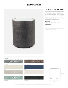 made goods cara shagreen side table tearsheet