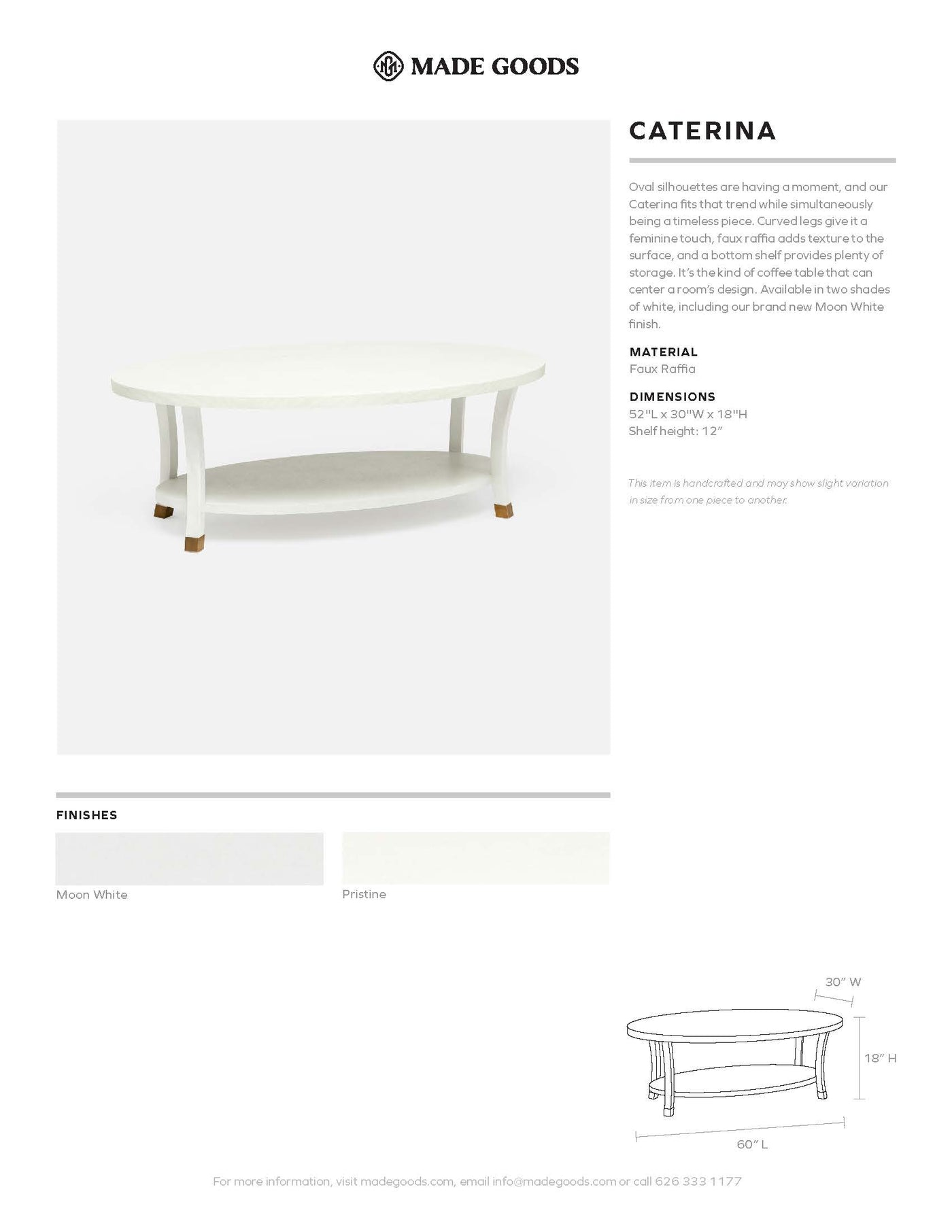 made goods caterina coffee table tearsheet