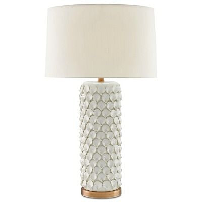 currey and company calla lily table lamp white ivory