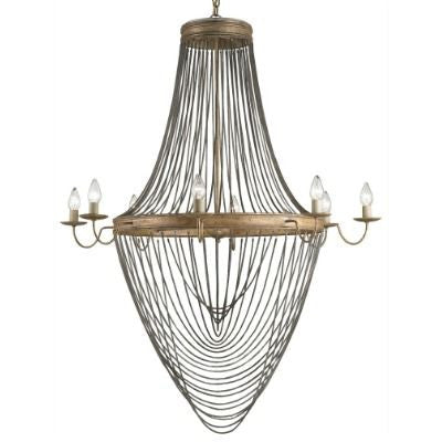 currey and company lucien chandelier large chain metal gold