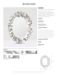 Made Goods Coco Mirror White with Silver Faux Coral oval mirror tearsheet