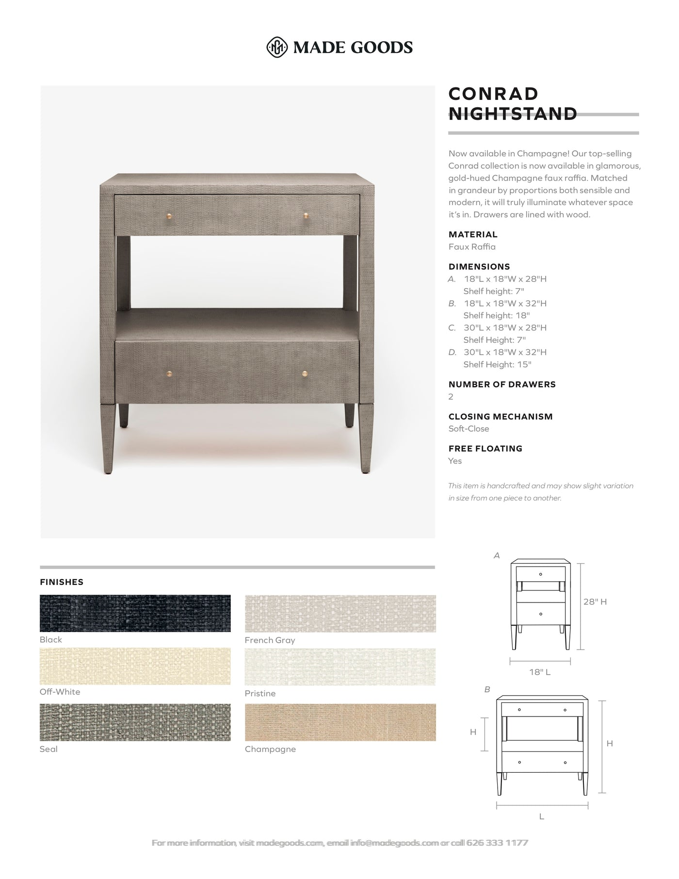 Made Goods Conrad Double Nightstand Tearsheet