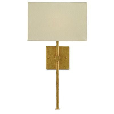 currey and company ashdown wall sconce gold leaf iron