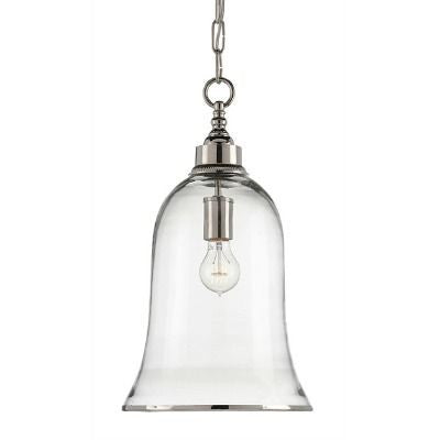 currey and company campanile pendant glass nickel metal