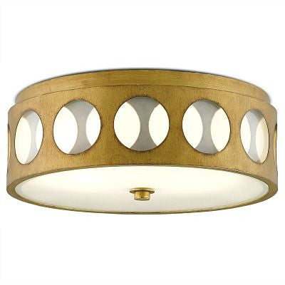 currey and company go go flush mount gold round ceiling