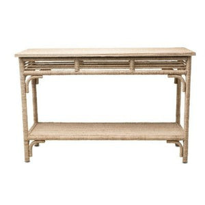 currey and company olisa console natural rope wrapped