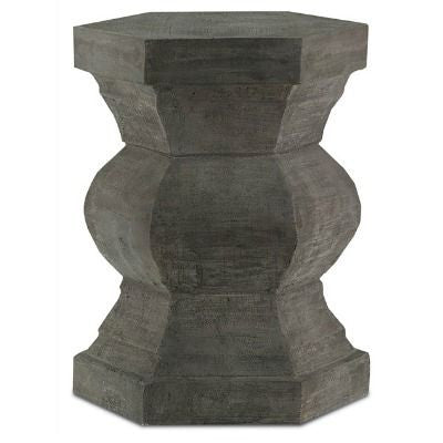 currey and company pagoda hexagonal stool concrete