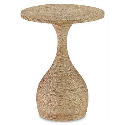 currey and company simo accent table rope round natural