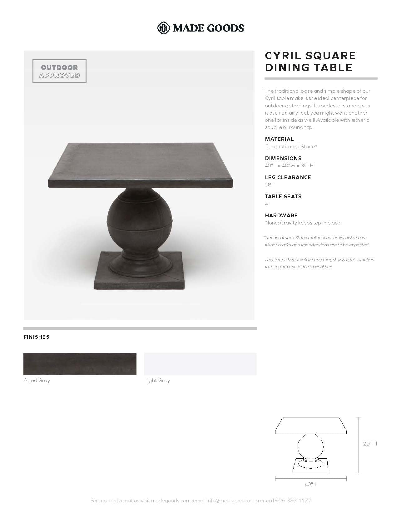 Made Goods Cyril Square Dining Table Tearsheet